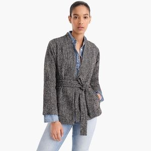 JCREW Point Sur Wrap Jacket in Donegal Tweed NWT S